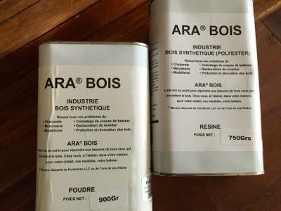 Arabois poudre et résine