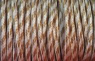 Câble électrique tissu type fer à repasser, beige