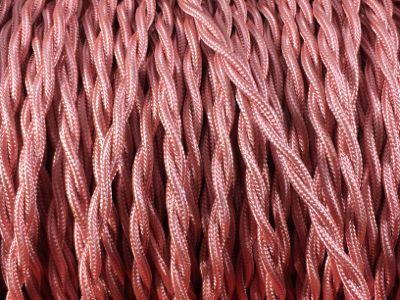 cable elctrique torsade rose
