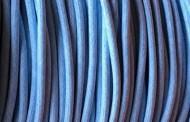 Fil électrique tissu coton bleu pastel