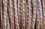 Câble électrique tissu arlequin