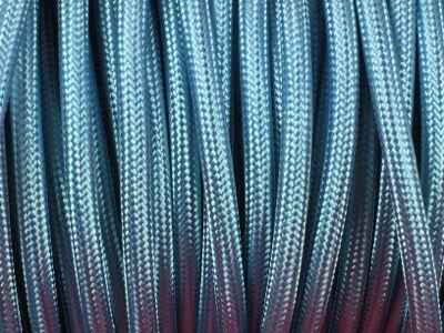 Cable electrique tissu bleu ciel produits restauration - Cable electrique tissu ...