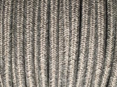 Fil électrique tissu gris chiné