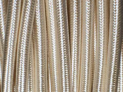 C bles lectriques tissu du beige au brun - Cable electrique tissu ...