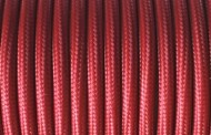 Câble électrique tissu Marsala