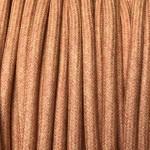 câble electrique coton orange pastel