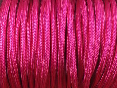 cable electrique tissu rond fushia produits restauration de meubles. Black Bedroom Furniture Sets. Home Design Ideas
