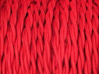 cable electrique torsade rouge