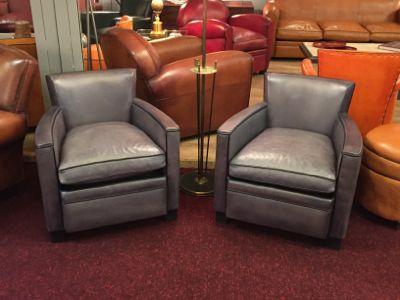 fauteuils club gris
