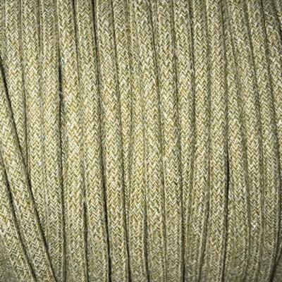 Fil électrique tissu chiné pastel vert et beige