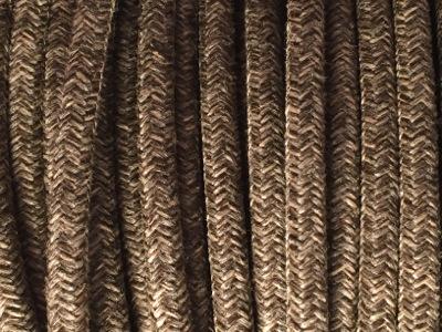 Cable électrique tissu chiné marron