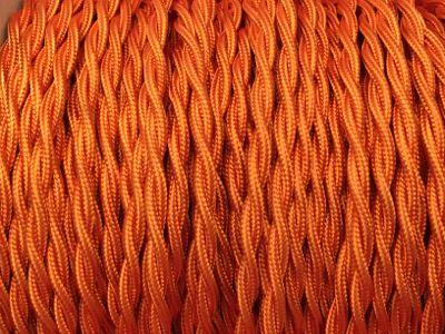 fil electrique torsade orange