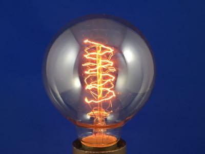Ampoule décorative sphère spirale