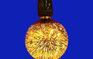 Ampoule LED cosmos dorée