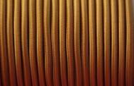 Câble électrique tissu rond bronze.