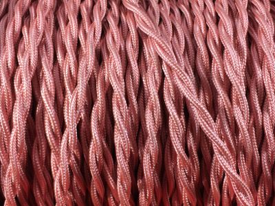 cable elctrique torsade rose