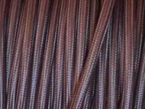 cable electique tissu marron chocolat