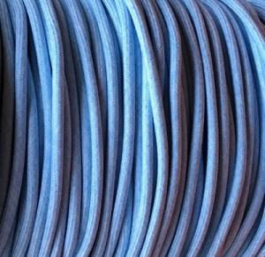 cable electrique bleu pastel