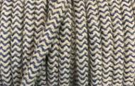 Câble électrique tissu bicolore beige bleu