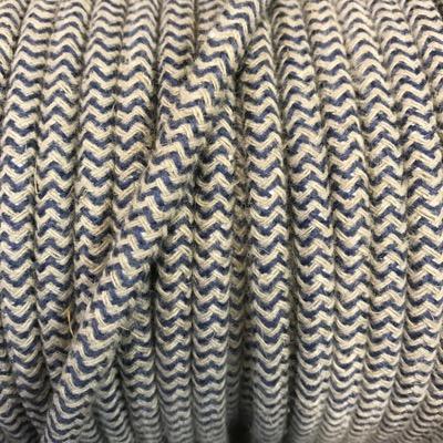 cable electrique deco beige et bleu