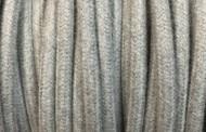 Cable electrique tissu coton gris