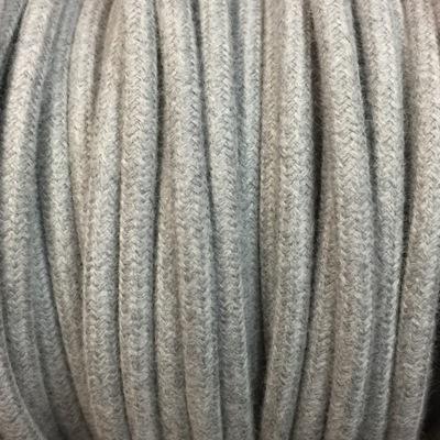 cable electrique tissu lin gris