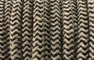 Câble électrique tissu bicolore beige noir