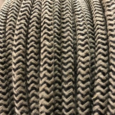câble electrique tissu ficelle/noir