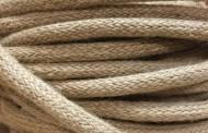 Câble électrique tissu grosse section ficelle