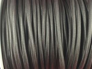 cable electrique textile gris souris