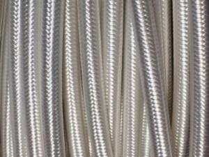 cable electrique tissu blanc
