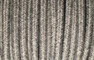 Cable electrique tissu gris chiné.