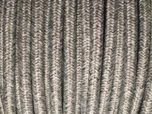 cable electrique tissu gris chine. Black Bedroom Furniture Sets. Home Design Ideas