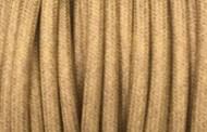 Câble électrique coton gris vert