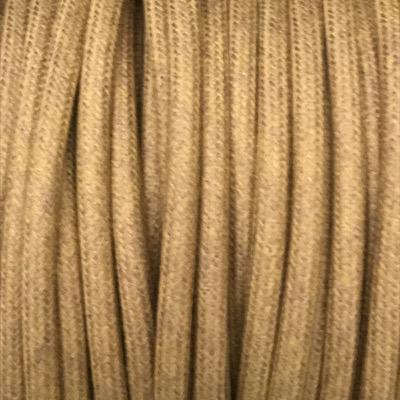 cable electrique coton bronze pale