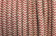 Câble électrique tissu bicolore beige rouge