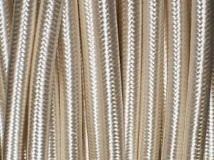 cable electrique tissu ivoire