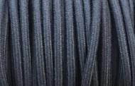 Câble électrique tissu coton bleu jean