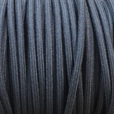 cable electrique tissu lin bleu jeans produits restauration de meubles. Black Bedroom Furniture Sets. Home Design Ideas