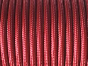 cable electrique tissu marsala