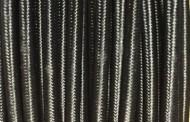 Câble électrique tissu rond noir