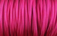 Câble électrique tissu fushia