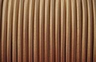 Câble électrique, fil électrique tissu vieil or