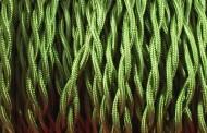 Fil électrique tissu torsadé vert