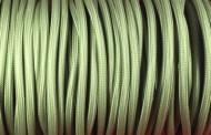 Câble électrique tissu vert kaki