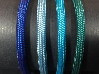 Cables electriques tissu nuances de bleu - Cable electrique tissu ...