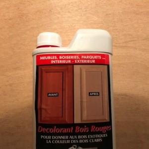 décolorant bois rouge Avel