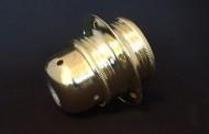 Douilles électriques métalliques cuivre, acier, laiton