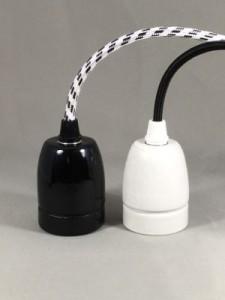douilles porcelaines noires blanches