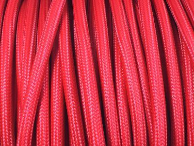 cable electrique tissu rouge. Black Bedroom Furniture Sets. Home Design Ideas